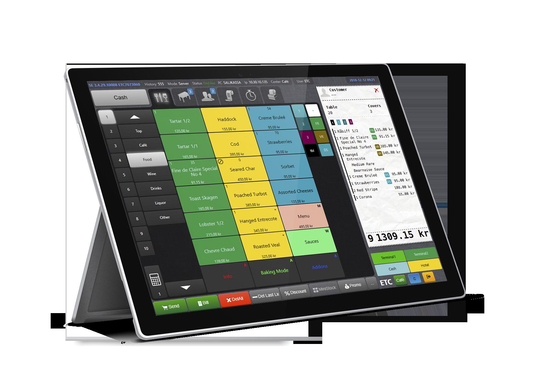 Trivec Go mobilt kassasystem för restauranger